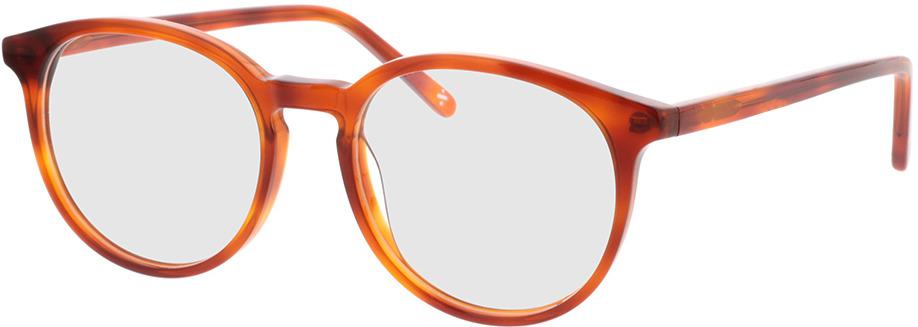 Picture of glasses model Topaz-orange transparent  in angle 330
