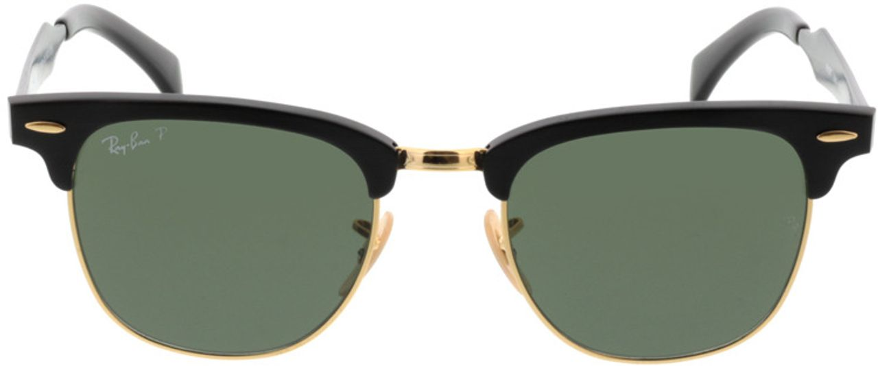 Picture of glasses model Ray-Ban Clubmaster Aluminum RB3507 136/N5 51-21 in angle 0