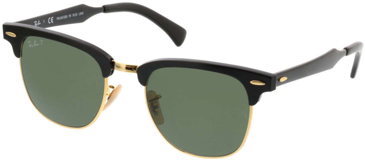 Picture of glasses model Ray-Ban Clubmaster Aluminum RB3507 136/N5 51-21 in angle 330