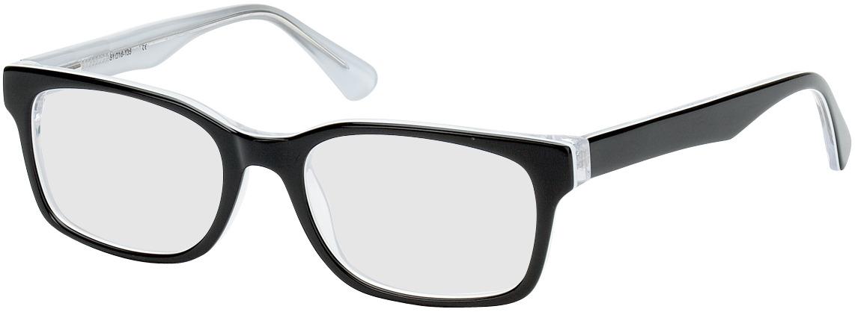 Picture of glasses model Motala black/white in angle 330