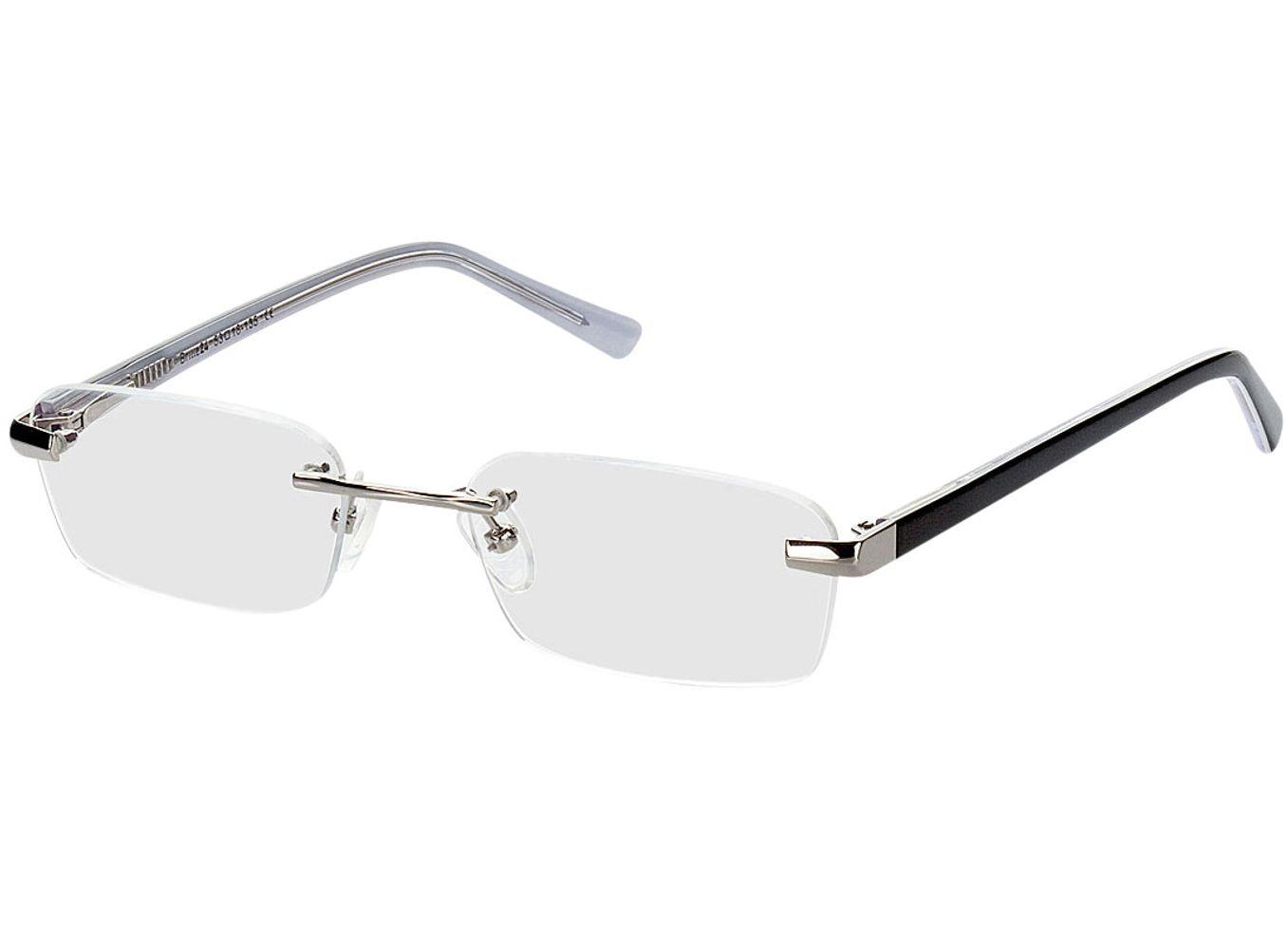 4842-singlevision-0000 Bristol-silber/schwarz Gleitsichtbrille, Randlos, Dünn Brille24 Collection