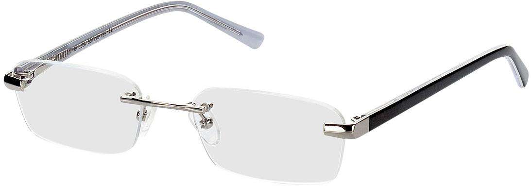 Picture of glasses model Bristol zilver/zwart in angle 330