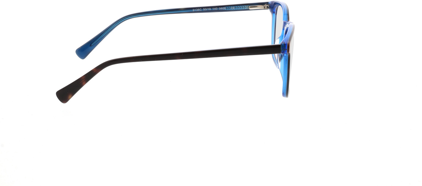 Picture of glasses model Mateo-braun-meliert/blau in angle 90