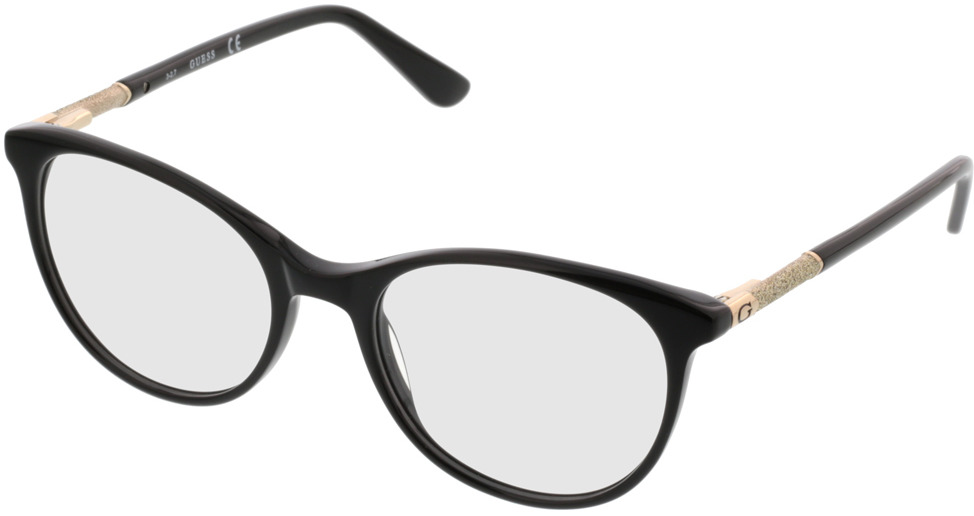Picture of glasses model Guess GU2657/V 005 52-18 in angle 330