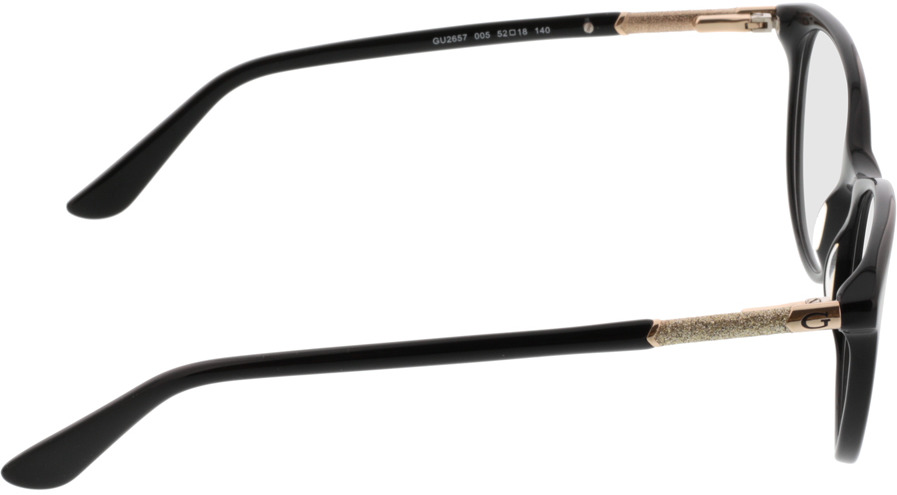 Picture of glasses model Guess GU2657/V 005 52-18 in angle 90