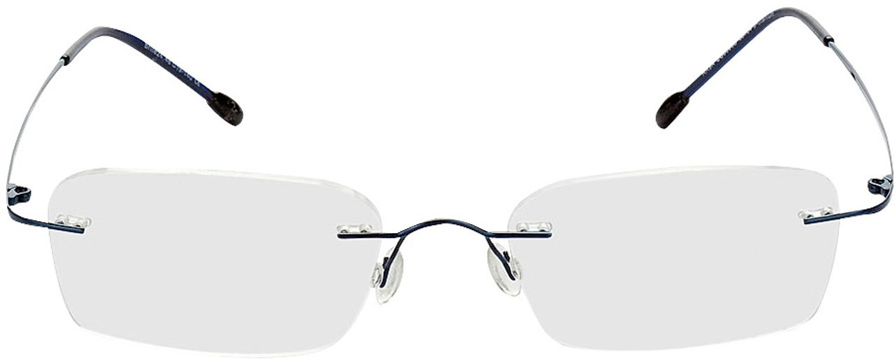 Picture of glasses model Davos-blau in angle 0