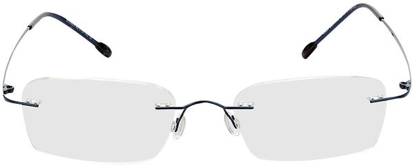 Picture of glasses model Davos-blue in angle 0