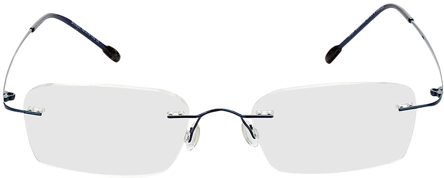 Picture of glasses model Davos blue in angle 0