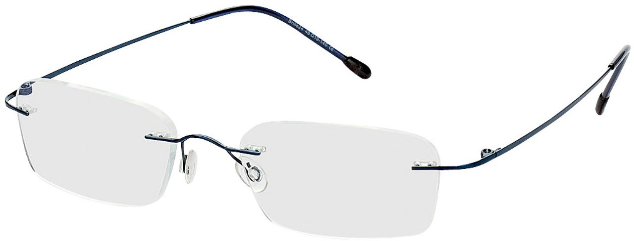 Picture of glasses model Davos-blau in angle 330