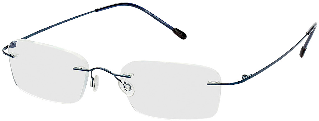 Picture of glasses model Davos blue in angle 330