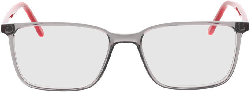 Picture of glasses model Tegea-grau-transparent/rot-transparent in angle 0