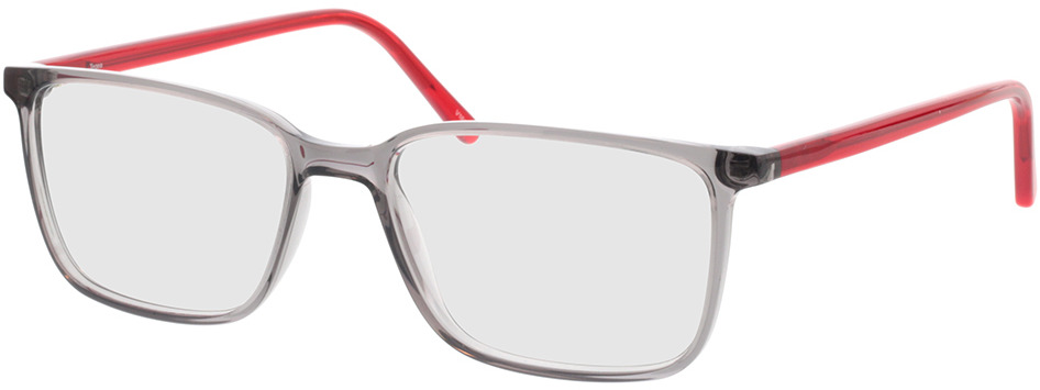 Picture of glasses model Tegea-grau-transparent/rot-transparent in angle 330