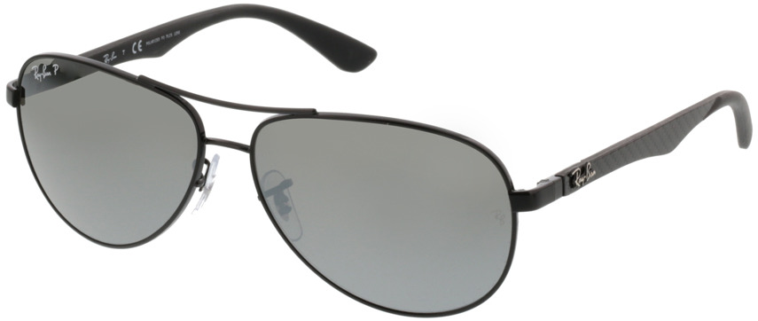 Picture of glasses model Ray-Ban Carbon Fibre RB8313 002/K7 58 13