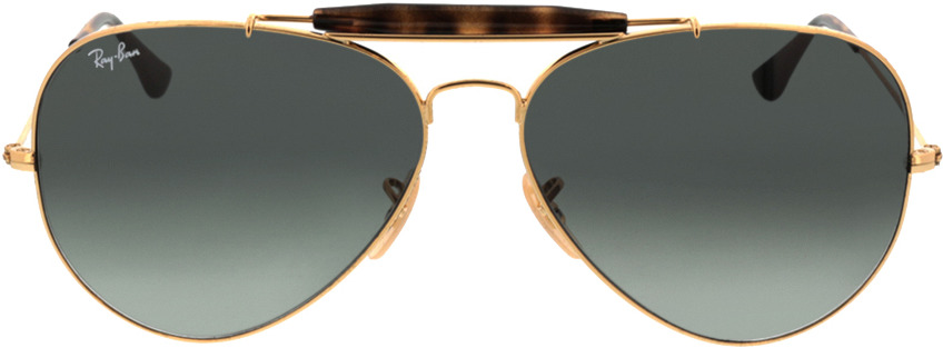 Picture of glasses model Ray-Ban Outdoorsman II RB3029 181/71 62-14 in angle 0