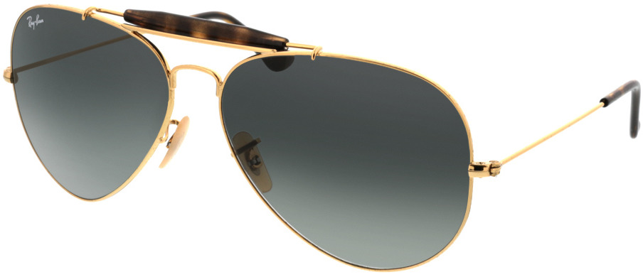 Picture of glasses model Ray-Ban Outdoorsman II RB3029 181/71 62-14 in angle 330