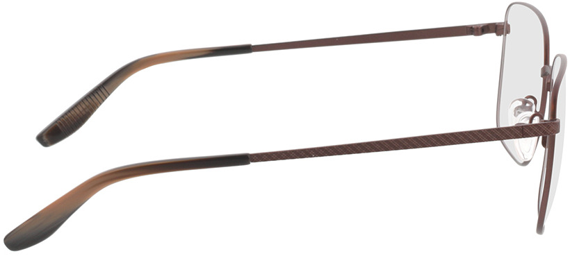 Picture of glasses model Helios-braun/braun schwarz horn in angle 90