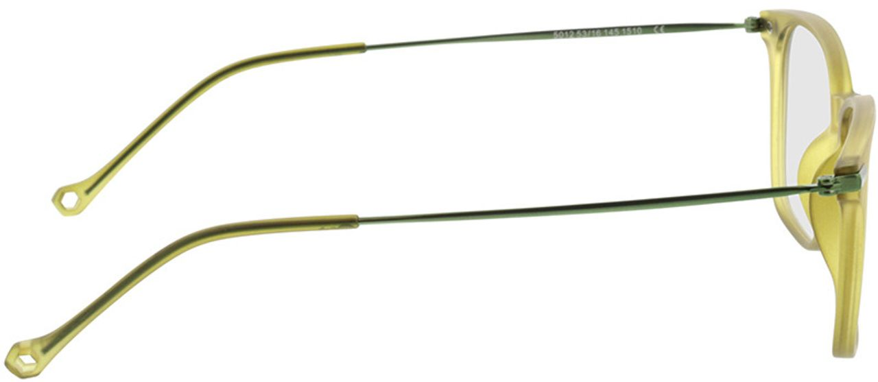 Picture of glasses model Eloro-grün-transparent in angle 90