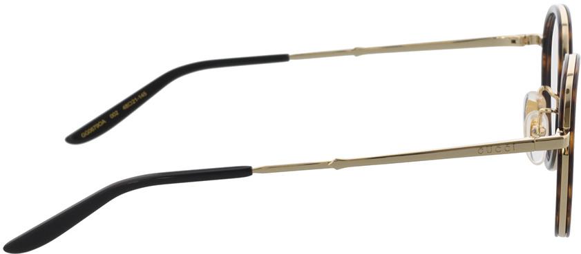 Picture of glasses model Gucci GG0679OA-002 48-21 in angle 90