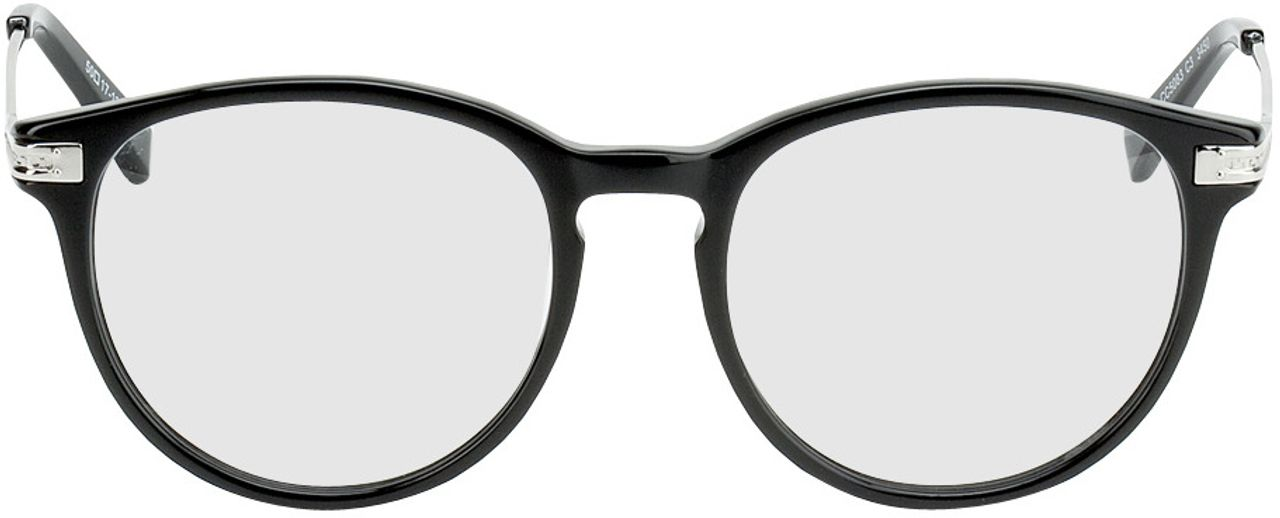 Picture of glasses model Elverum-black-silver in angle 0