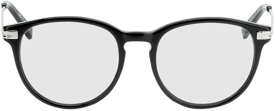 Picture of glasses model Elverum-schwarz/silber in angle 0