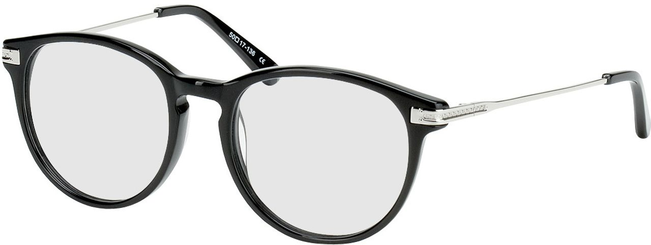 Picture of glasses model Elverum-schwarz/silber in angle 330
