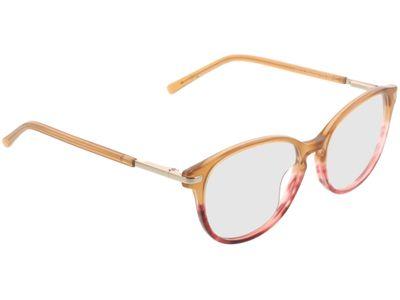 Brille Madena-beige/rot/gold