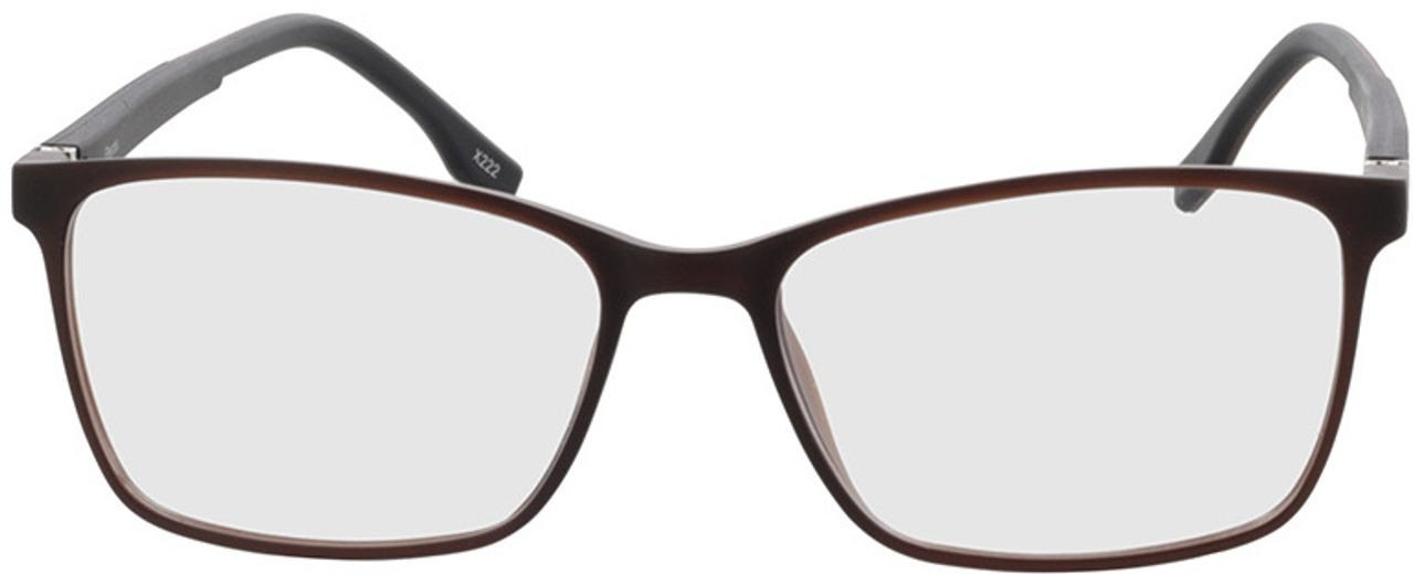 Picture of glasses model Pecos-braun-transparent in angle 0