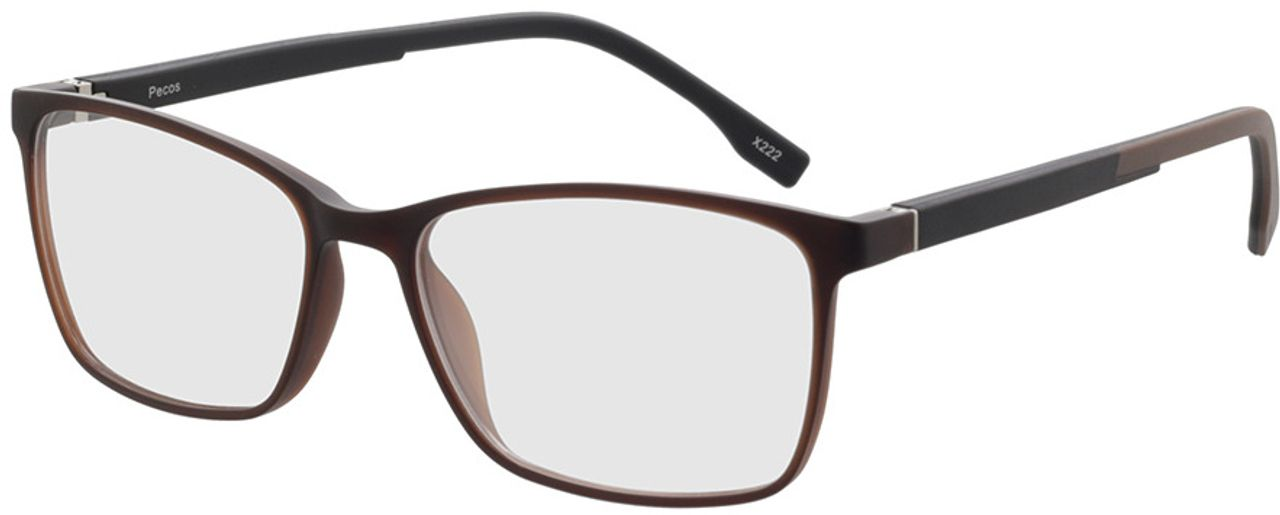 Picture of glasses model Pecos-braun-transparent in angle 330