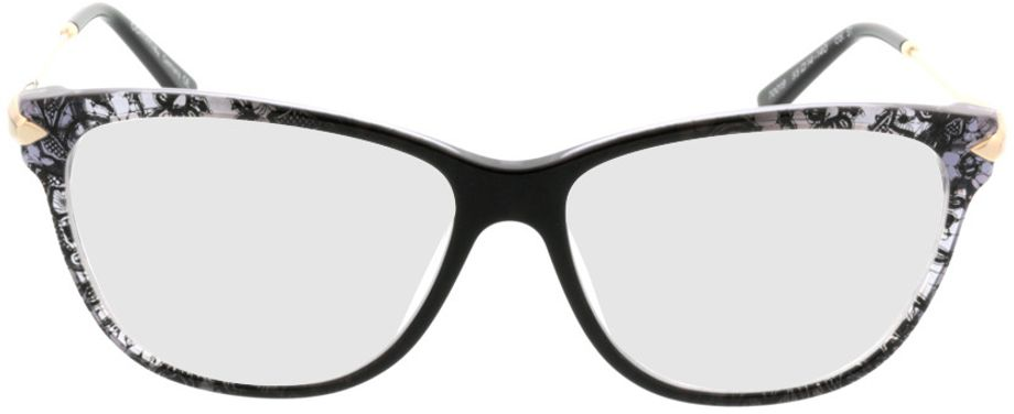 Picture of glasses model Comma70019 31 schwarz/transparent/gold 55-14 in angle 0