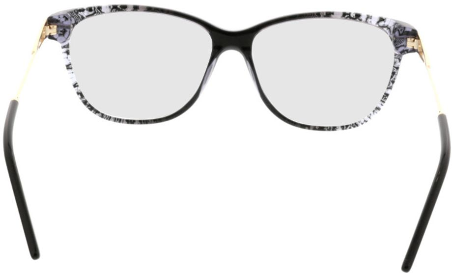 Picture of glasses model Comma70019 31 schwarz/transparent/gold 55-14 in angle 180