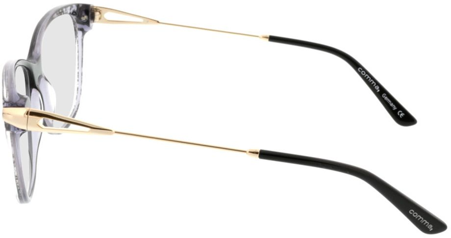 Picture of glasses model Comma70019 31 schwarz/transparent/gold 55-14 in angle 270