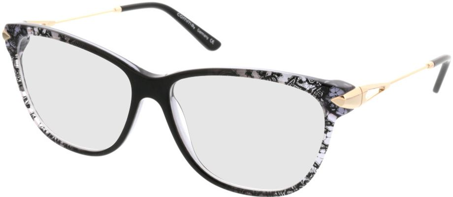 Picture of glasses model Comma70019 31 schwarz/transparent/gold 55-14 in angle 330