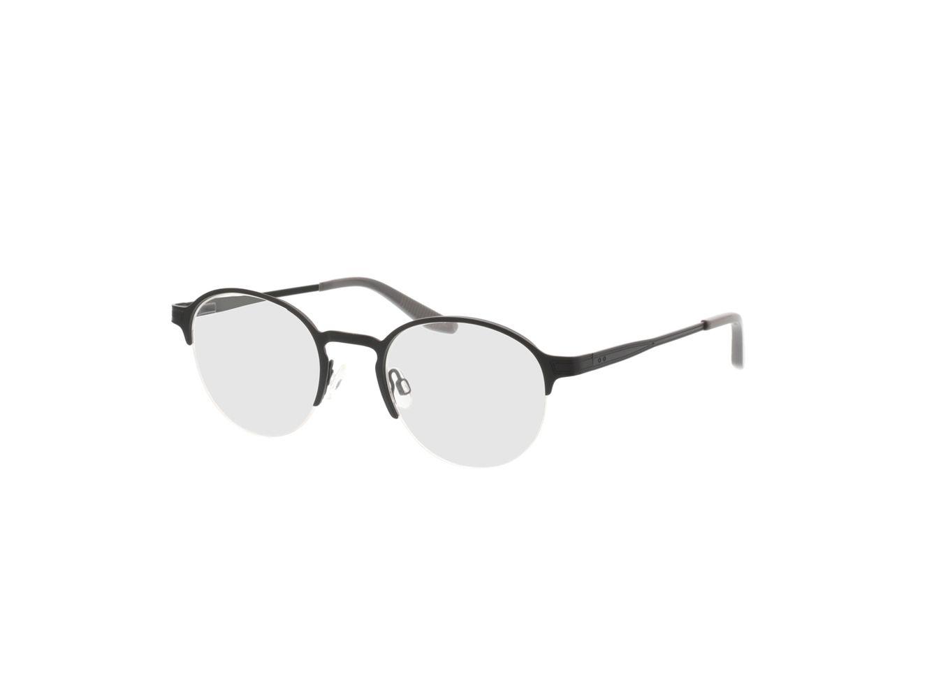 4250325291904-singlevision-0000 Nino-matt schwarz Gleitsichtbrille, Halbrand, Rund OMNIO by Brille24
