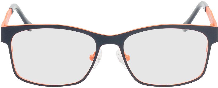 Picture of glasses model Tumba-dunkelblau/orange in angle 0
