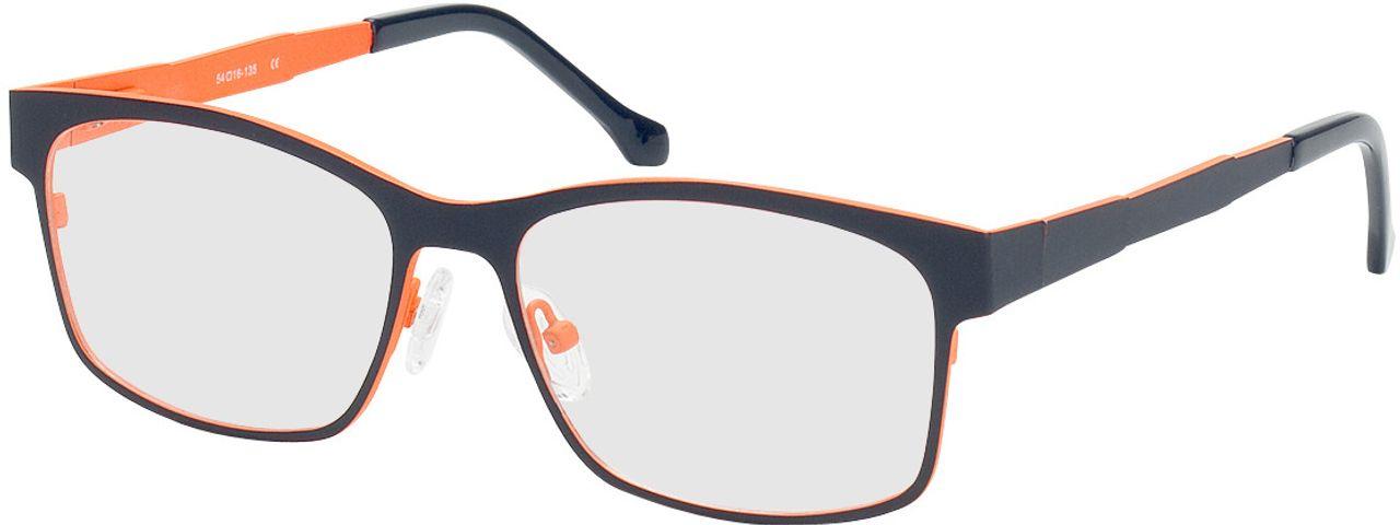 Picture of glasses model Tumba-dunkelblau/orange in angle 330
