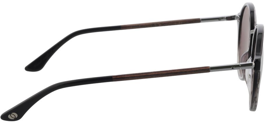 Picture of glasses model Wood Fellas Sunglasses Etic macassar/black-grey 50-21 in angle 90
