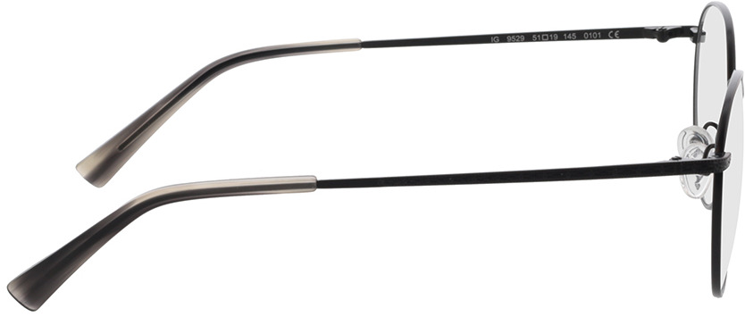 Picture of glasses model Lucas-schwarz in angle 90