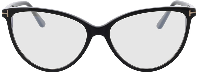 Picture of glasses model Tom Ford FT5743-B 001 57-15 in angle 0