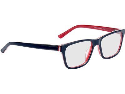 Brille Augusta-blau/transparent-rot