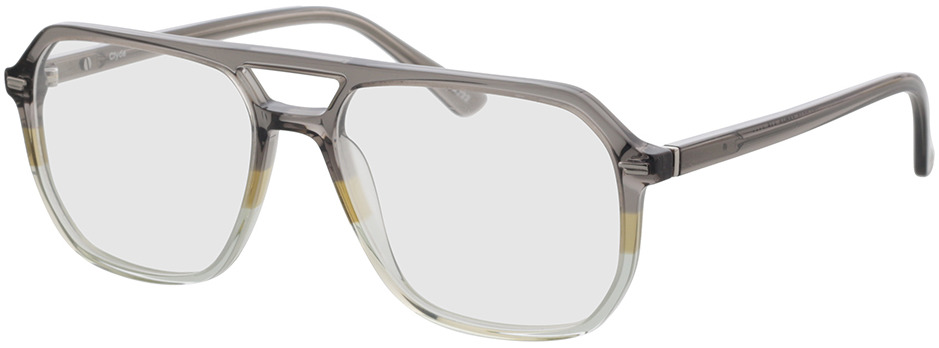 Picture of glasses model Clyde grijs/groen in angle 330