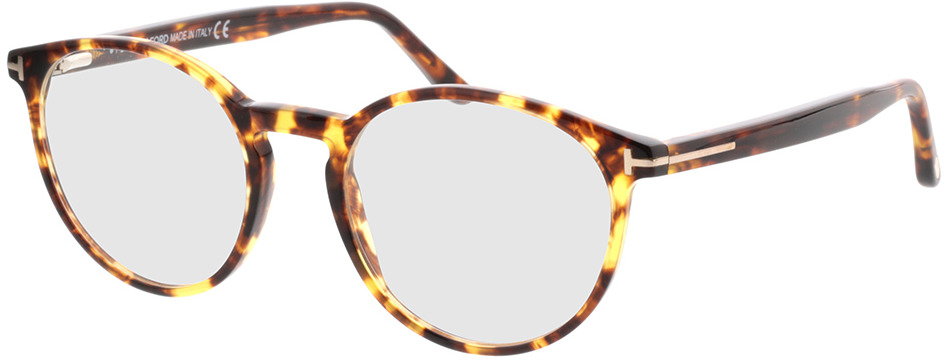 Picture of glasses model Tom Ford FT5524 053 in angle 330