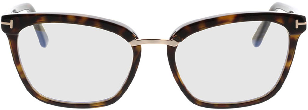 Picture of glasses model Tom Ford FT5550-B 052 in angle 0