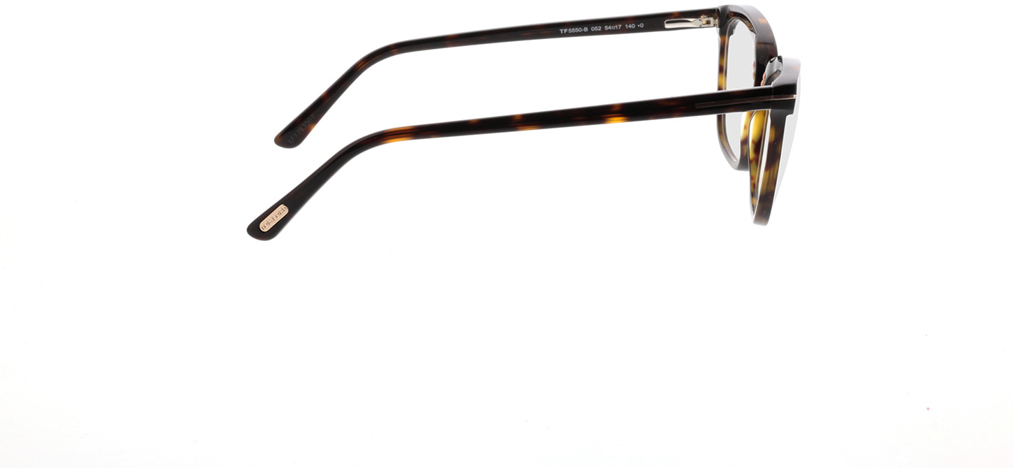 Picture of glasses model Tom Ford FT5550-B 052 in angle 90