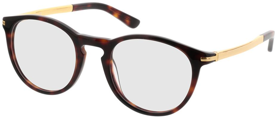 Picture of glasses model Tokio-brown-mottled-gold in angle 330