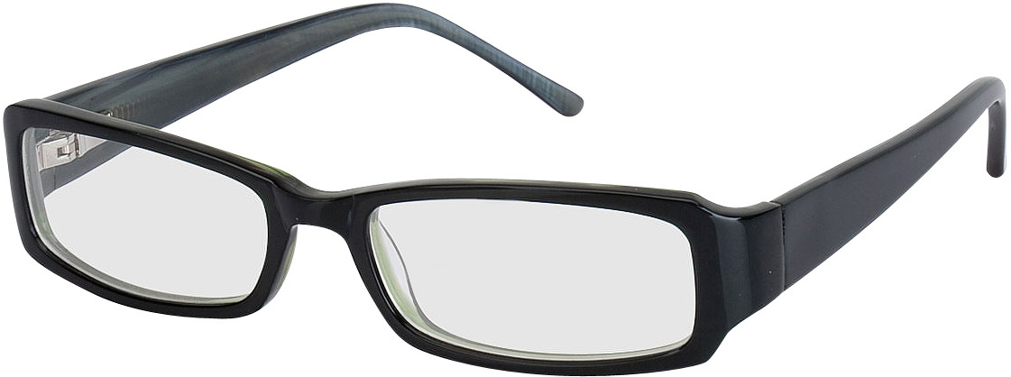 Picture of glasses model Avellino zwart in angle 330