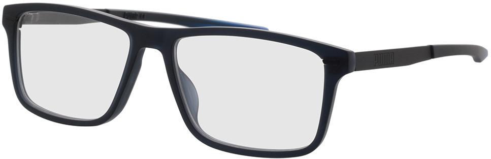 Picture of glasses model Puma PU0300O-003 57-16 in angle 330