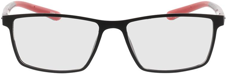 Picture of glasses model Lindos-matt schwarz/rot in angle 0