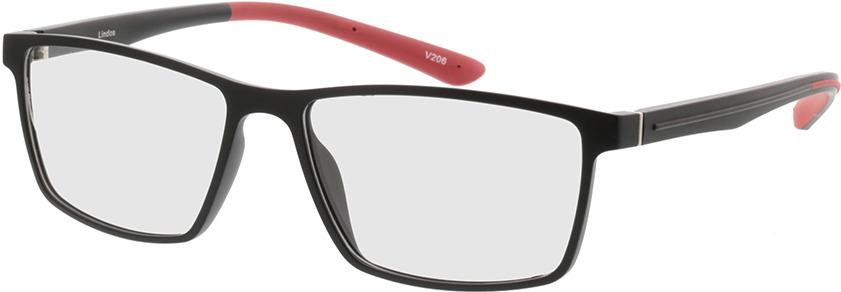 Picture of glasses model Lindos-matt schwarz/rot in angle 330