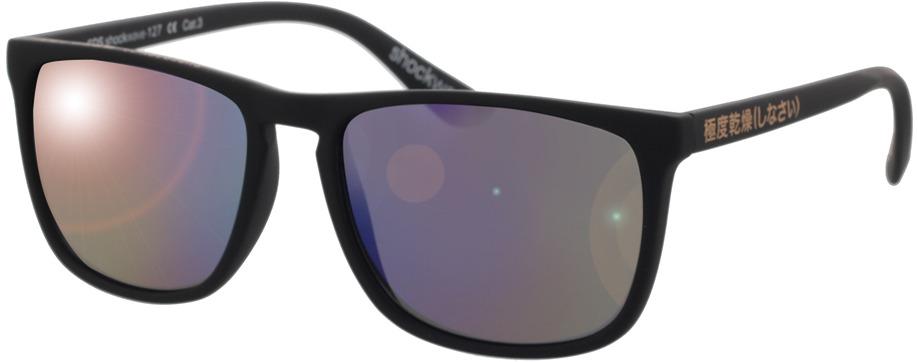 Picture of glasses model Superdry SDS Shockwave 127 matte black rubberised 55-17 in angle 330