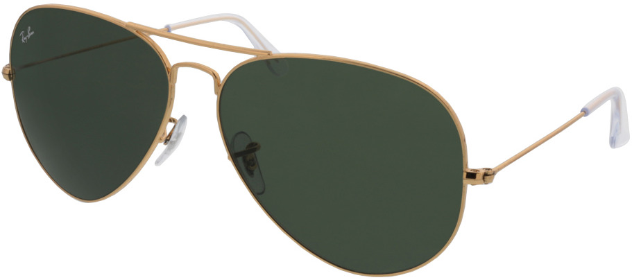 Picture of glasses model Ray-Ban Aviator RB3025 001 62-14 in angle 330